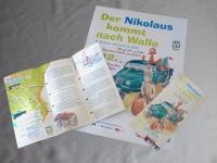 Flyer erklärt den Flüchtlingen Nikolaus