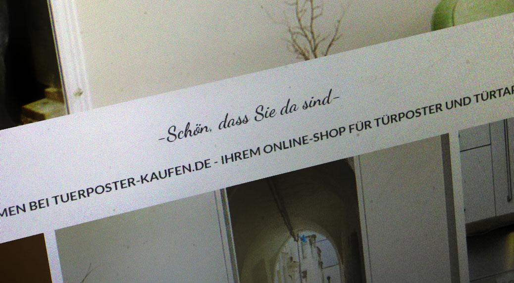 Onlineshop tuerposter-kaufen.de