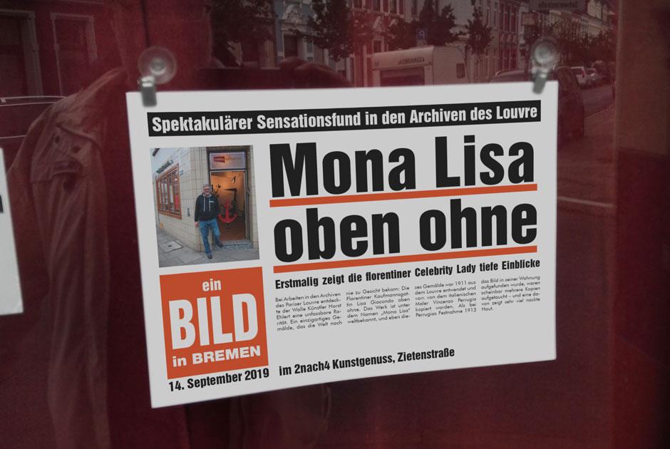 Ein Bild in Walle: Mona Lisa oben ohne